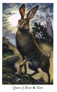 Queen of Bows - Hare - The Wildwood Tarot Deck