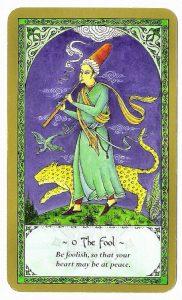 The Fool Tarot Card - Rumi Tarot Deck