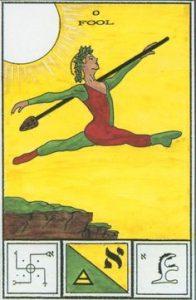 The Fool Tarot Card - Tarot of Ceremonial Magick Deck