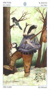 The Fool Tarot Card - Tarot of the Animal Lords Deck