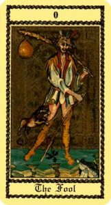The Fool Tarot Card - The Medieval Scapini Tarot Deck