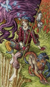 The Fool Tarot Card - Universal Fantasy Tarot Deck