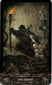 The Hermit Tarot Card  - The Tarot of Vampyres