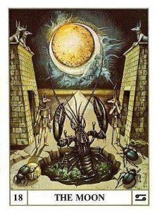 The Moon Tarot Card  - Ansata Tarot Deck