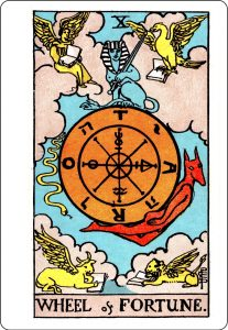 Wheel of Fortune Card - Rider-Waite Tarot Deck