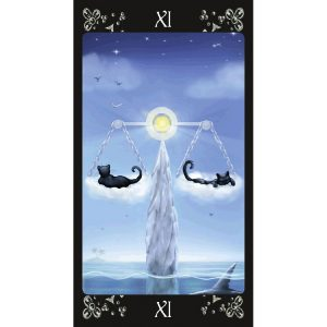 Justice - Black Cats Tarot Deck