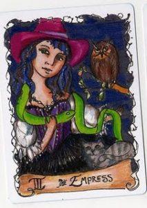 The Empress Tarot Card - All Hallows Tarot Deck