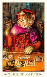 Wheel of Fortune - The Baroque Bohemian Cats Tarot Deck
