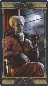 The Emperor Tarot Card - Vampires Tarot of the Eternal Night Deck