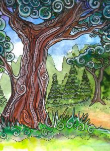 The Hierophant Tarot Card - Tarot of Trees Deck