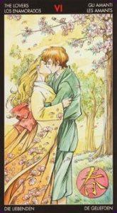 The Lovers Tarot Card - Manga Tarot Deck