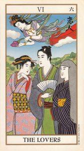 The Lovers Tarot Card - Ukiyoe Tarot Deck