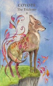 Coyote - The Trickster - Animal Wisdom Tarot Deck