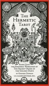 The Hermetic Tarot Cards - Black and White Tarot Deck